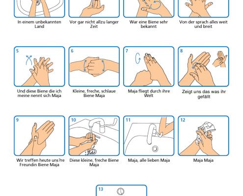 Händewaschen und dazu singen!